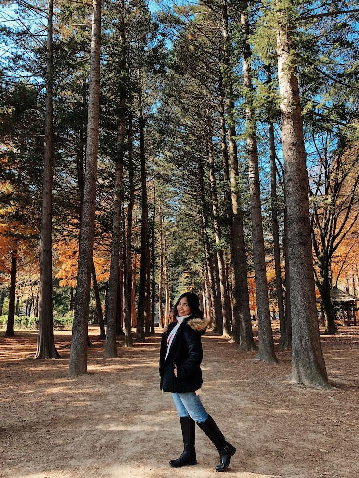 Trish Between Trees in Nami